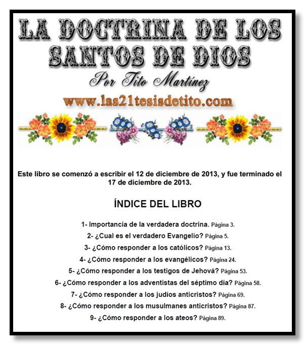 """""""La doctrina de los Santos de Dios"""", por Tito Martinez Portadalibro1"""